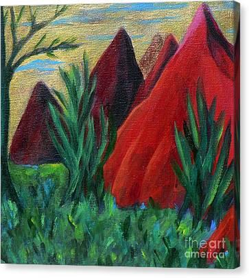 Red Kisses Canvas Print