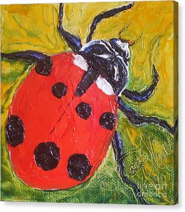 Red Ladybug Canvas Print by Paris Wyatt Llanso