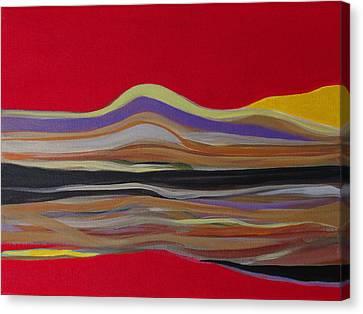 Red Landscape Canvas Print by Fatima Neumann