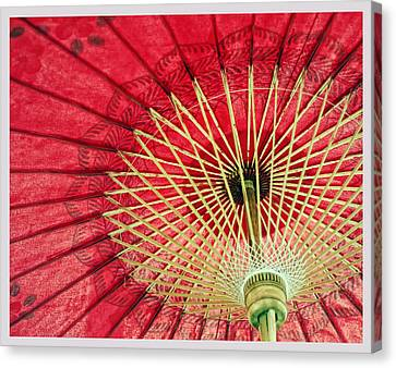 Red Canvas Print by Laura George