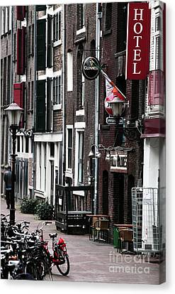 Red Light District Hotel Canvas Print by John Rizzuto