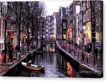 Red Light District Canvas Print by John Rizzuto