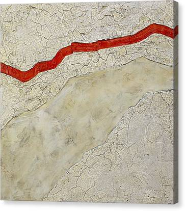 Red Line Canvas Print