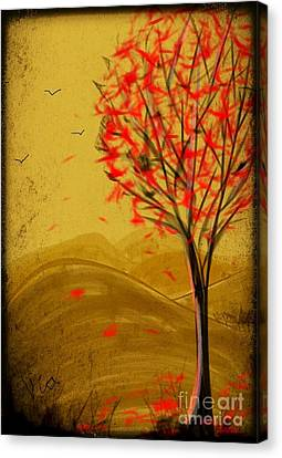 Red Maple  Canvas Print by Judy Via-Wolff