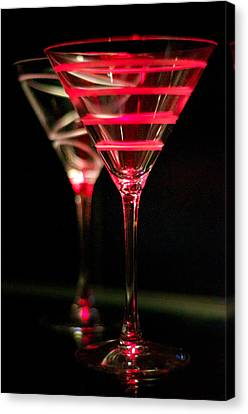 Red Martini Canvas Print