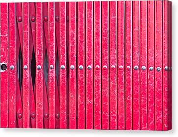 Red Metal Bars Canvas Print