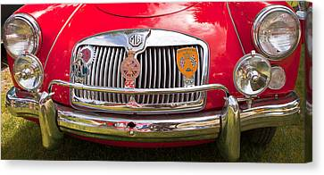 Red Mg Sports Car Canada Canvas Print by Mick Flynn