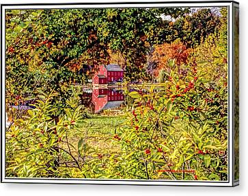 Haunted House Canvas Print - Red Mill In Clinton New Jersey by Geraldine Scull
