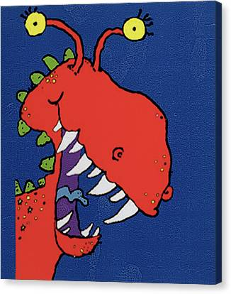 Red Monster Canvas Print by Maylee Christie