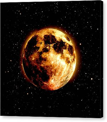 Red Moon Canvas Print by James Barnes