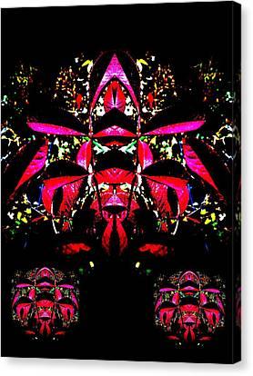 Canvas Print featuring the digital art Red Mosaic by Aliceann Carlton