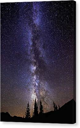 Red Mountain Milky Way Canvas Print by Darren  White
