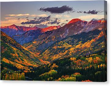 Red Mountain Pass Sunset Canvas Print