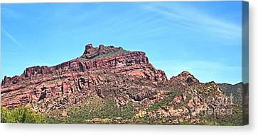 Canvas Print featuring the photograph Red Mountain by Ruth Jolly