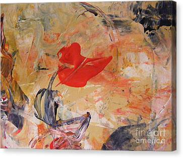 Red Canvas Print by Nancy Kane Chapman