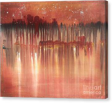 Red Night  Canvas Print by Michael Stanley