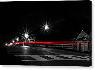 Red On Black Canvas Print by Shelby  Young