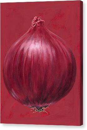 Onion Canvas Print - Red Onion by Brian James