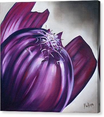 Red Onion Canvas Print by Ilse Kleyn