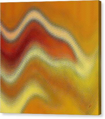 Red Orange And Yellow Glass Waves Canvas Print by Ben and Raisa Gertsberg