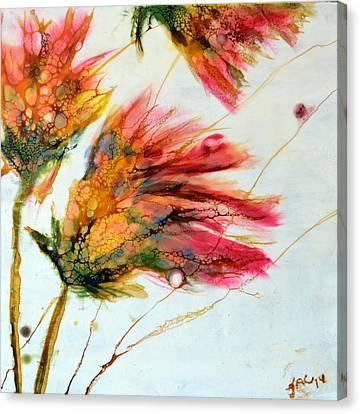 Red Orange Flowers Canvas Print
