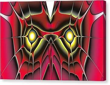 Red Owl Canvas Print by Anastasiya Malakhova