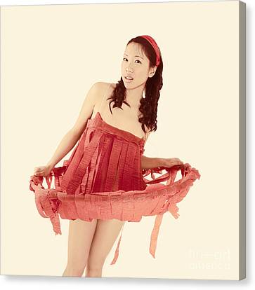 Red Paper Dress Canvas Print