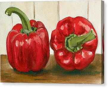 Red Pepper Canvas Print by Sarah Lynch