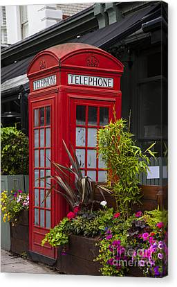 Red Phone Booth Canvas Print by Timothy Johnson