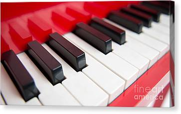 Red Piano Canvas Print by Yew Kwang