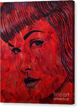 Red Pop Bettie Canvas Print
