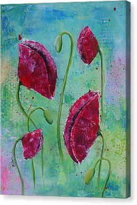 Red Poppies Canvas Print by Bitten Kari
