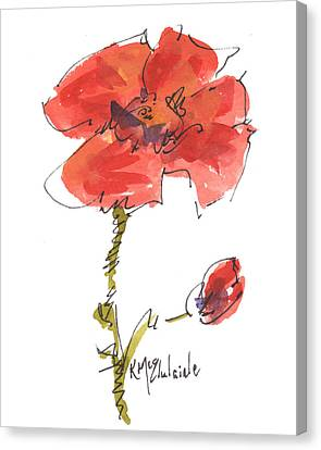 Red Poppy And Pal Canvas Print