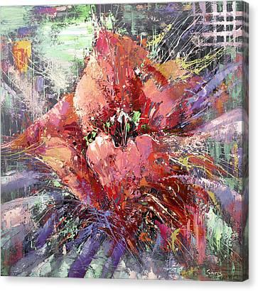 Red Poppy Canvas Print by Dmitry Spiros