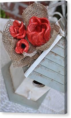 Red Poppy Inn Canvas Print by Amanda  Sanford