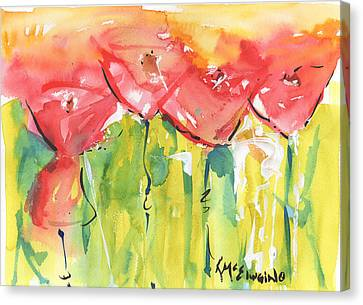 Red Poppy Party Canvas Print