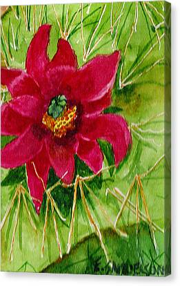 Red Prickly Pear Canvas Print by Eric Samuelson