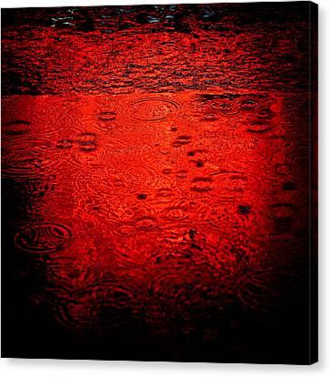 Red Rain Canvas Print by Dave Bowman