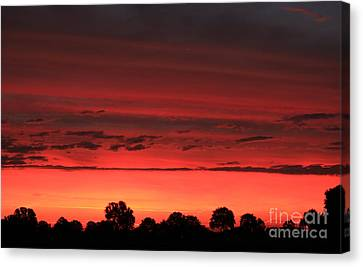 Red Red Sunrise Canvas Print