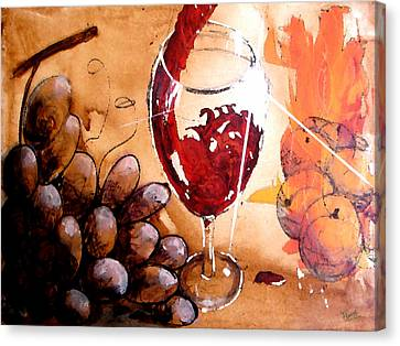 Merlot Canvas Print - Red Red Wine by Marcello Cicchini