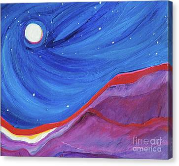Canvas Print featuring the painting Red Ridge By Jrr by First Star Art