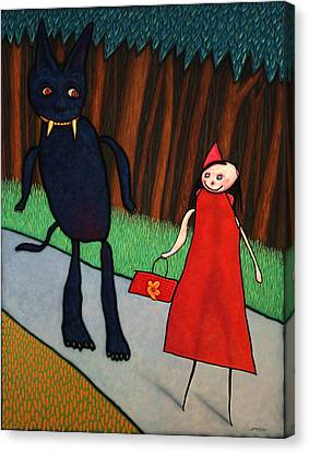 Red Ridinghood Canvas Print by James W Johnson