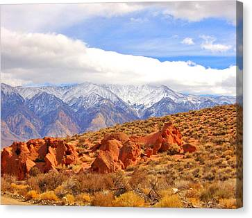 Red Rock And Desert Canvas Print