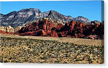 Red Rock Canyon 2 Canvas Print by Judy Vincent