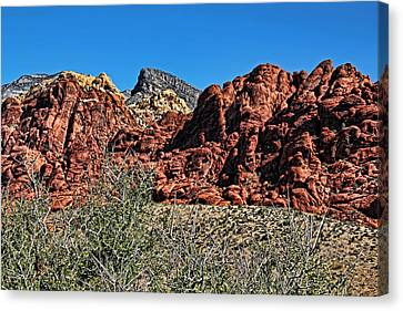 Red Rock Canyon Layers Canvas Print by Judy Vincent