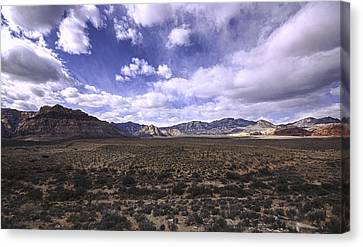 Storm Canvas Print - Red Rock Canyon Nevada by Mike Herdering