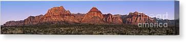 Red Rock Canyon Pano Canvas Print by Jane Rix