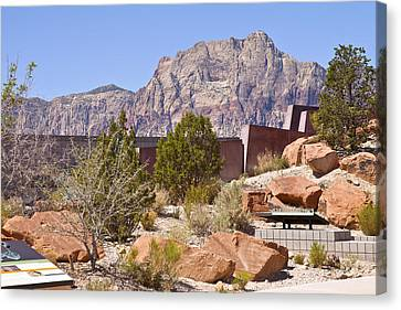 Red Rock Canyon Visitor Center Nevada. Canvas Print by Gino Rigucci