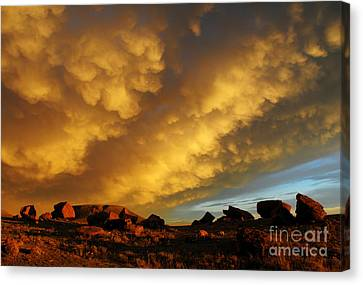 Red Rock Coulee Sunset Canvas Print by Vivian Christopher