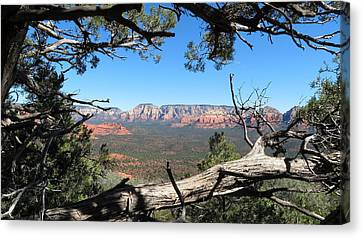 Red Rock Country From Doe Mountain Canvas Print by Charles Ables